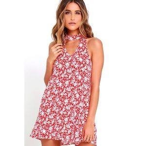 LuLus lean close floral print swing dress